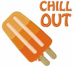 Chill Out embroidery design