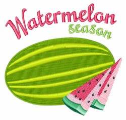 Watermelon Season embroidery design