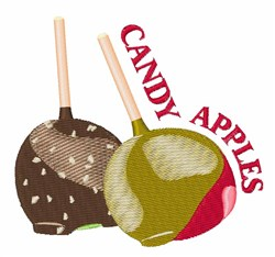 Candy Apples embroidery design
