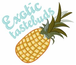 Exotic Tastebuds embroidery design