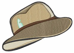 Fedora Hat embroidery design