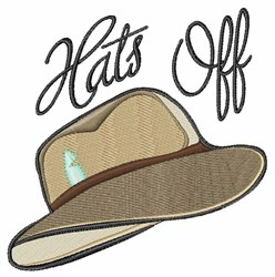 Hats Off embroidery design