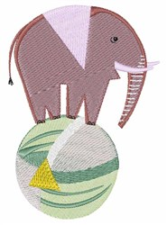 Elephant On Ball embroidery design