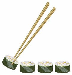 Sushi Dinner embroidery design
