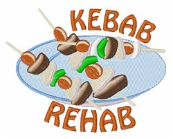 Kebab Rehab embroidery design