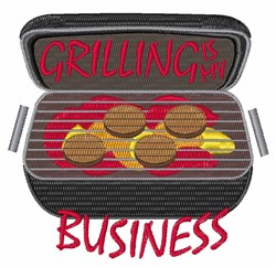Grilling Business embroidery design
