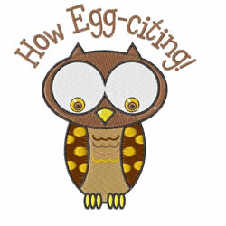 How Egg-Citing embroidery design