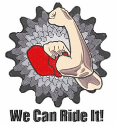 We Can Ride It embroidery design