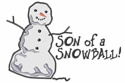 Son Of A Snowball embroidery design