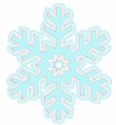 Single Snowflake embroidery design