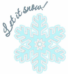 Let It Snow! embroidery design