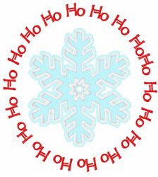 Ho Ho Ho embroidery design