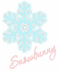 Snowbunny embroidery design