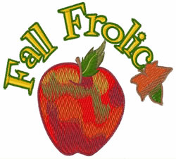 Fall Frolic embroidery design
