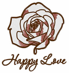 Happy Love embroidery design