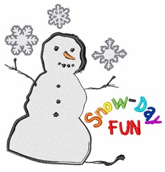 Snow-Day Fun embroidery design