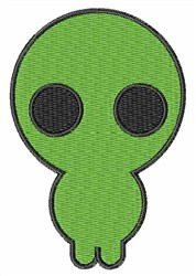 Alien embroidery design