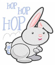 Hop Hop Hop embroidery design