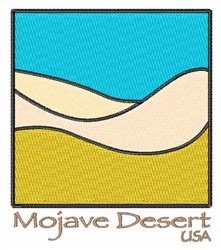 Mojave Desert USA embroidery design