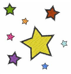 Colorful Stars embroidery design