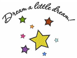 Dream a Little Dream embroidery design