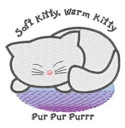 Soft Kitty, Warm Kitty embroidery design