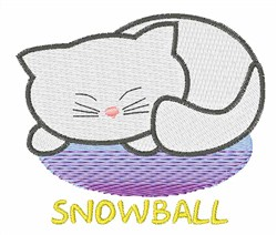 Snowball embroidery design