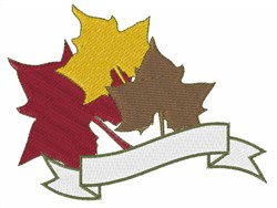 Maple Caption Ribbon embroidery design