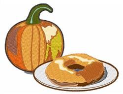 Pumpkin Doughnut embroidery design