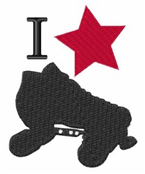 I Star Skating embroidery design