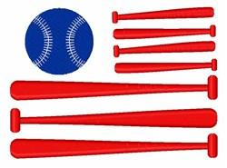 Baseball American Flag embroidery design