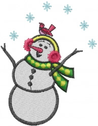 Singing Snowman embroidery design