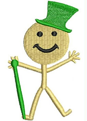 Irish Smiley embroidery design
