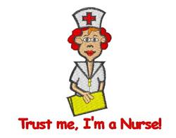 Nurse Trust embroidery design