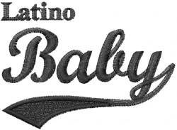 Latino Baby embroidery design