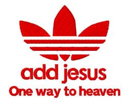 Add Jesus Heaven embroidery design
