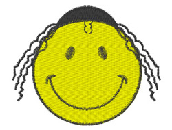 Jewish Smiley Logo embroidery design