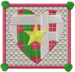Christmas Quilt embroidery design