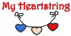 My Heartstrings embroidery design
