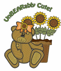 Unbearably Cute embroidery design