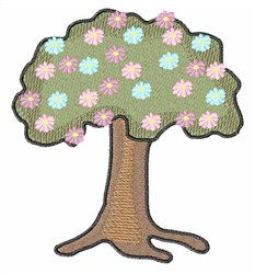 Floral Tree embroidery design