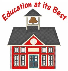 Education at its Best embroidery design