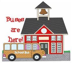 School Bus & School embroidery design