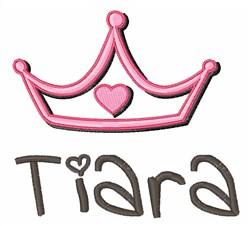 Tiara embroidery design