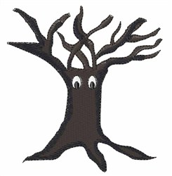 Alive Halloween Tree embroidery design