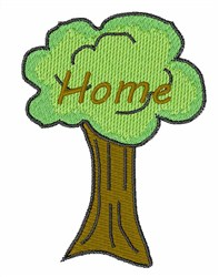 Home Tree embroidery design