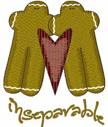 Inseparable embroidery design