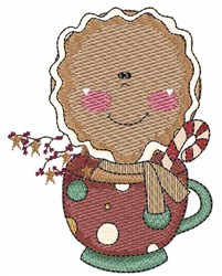 Gingerbread Cup embroidery design