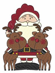 Santa & Reindeer embroidery design