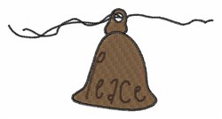Peace Bell embroidery design